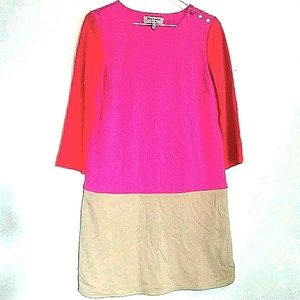 Juicy Coutoure sz S color block date night dress